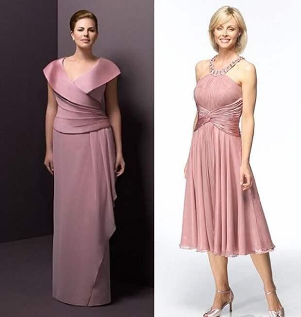 вечерние платья для полных женщин после 40 лет