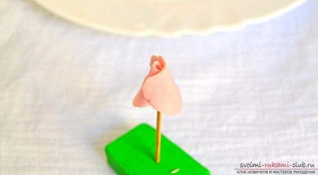 Ободки из полимерной глины с бутонами розм - мастер-класс и ободок с цветами. Фото №4