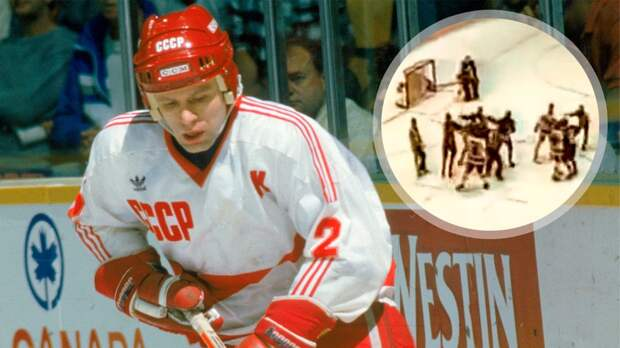 Дикая бойня советских и американских хоккеистов! Наши порвали флаг США