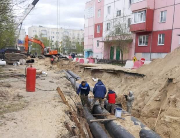 Заменят 12 км трубопроводов: в Ноябрьске рабочие приступили к ремонту тепловых сетей