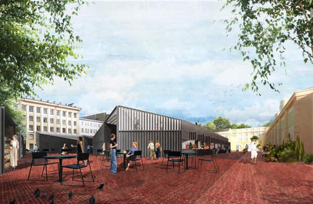 Сытный рынок поэтапно реконструируют. К 2022 году там должно появиться уличное пространство с ресторанами