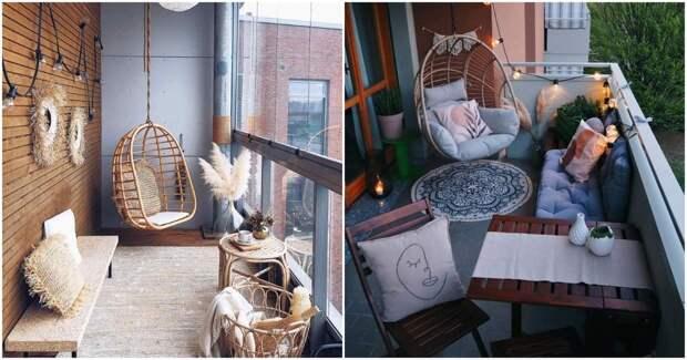 Интересные идеи для создания уютного балкона в стиле бохо