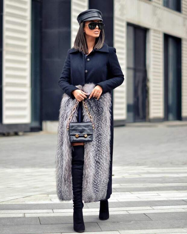 15 идей с чем носить зимнее пальто с воротником, чтобы выглядеть эффектно