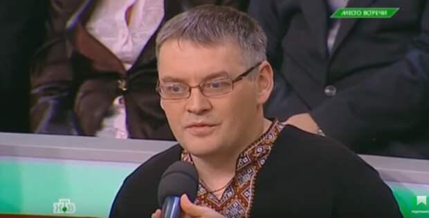 """Блогер-националист из Украины позволил себе нацистские высказывания на передаче """"Место встречи"""""""