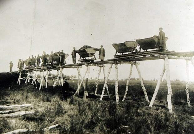 Строительство Транссибирской магистрали. Российская империя. 1891 г.