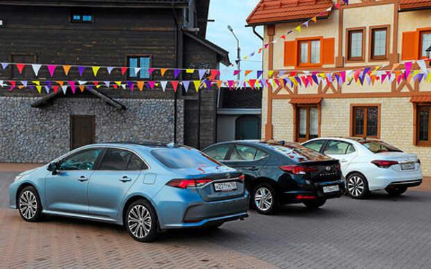 Toyota Corolla, Hyundai Elantra, Citroen C4 — тест-драйв в цифрах