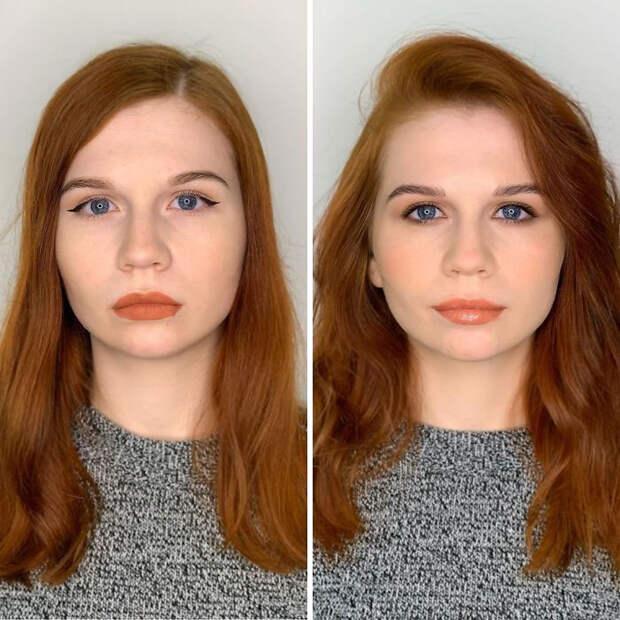 Визажист исправляет ошибки в привычном макияже девушек. Посмотрите, как меняется их образ