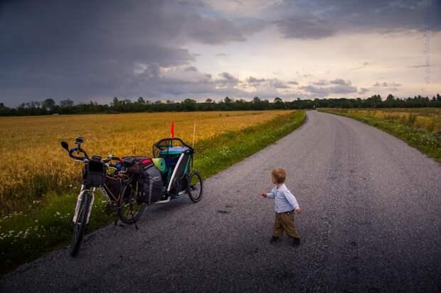 Путешествие с малышом на велосипеде по Прибалтике