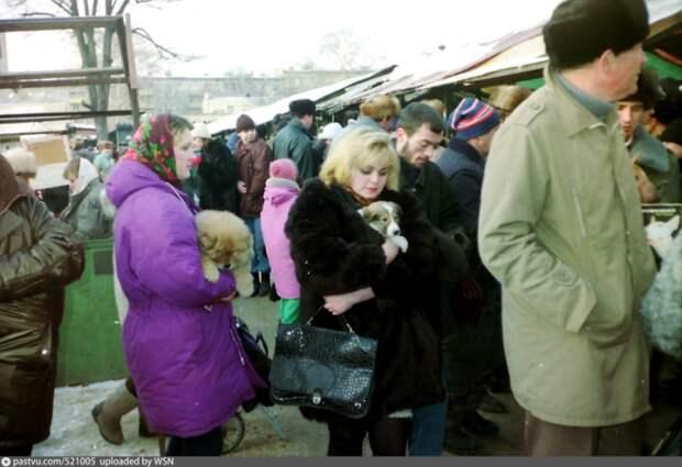 Торговое место, где много как продавцов животных так и покупателей, и конечно же, просто зевак, которые пришли посмотреть.