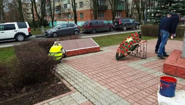Боевую технику покрасят в парке Победы имени Талалихина в Подольске