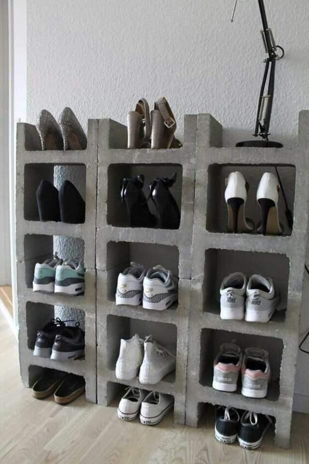 6. Вот пример с хранением обуви декор, дизайн, идеи для дома, интересно, лайфхаки, очумелые ручки, своими руками, фото