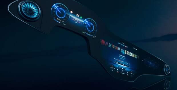 Mercedes-Benz представил экран MBUX Hyperscreen для электрического седана EQS