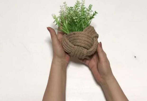 Идея для цветоводов из обычного толстого каната