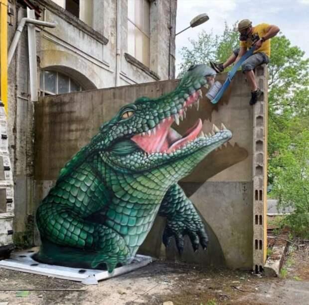 Французский художник создает потрясающие 3D-граффити
