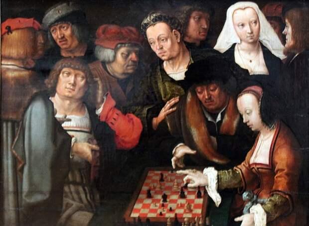 укас ван Лейден, «Игра в шахматы», начало XVI века.