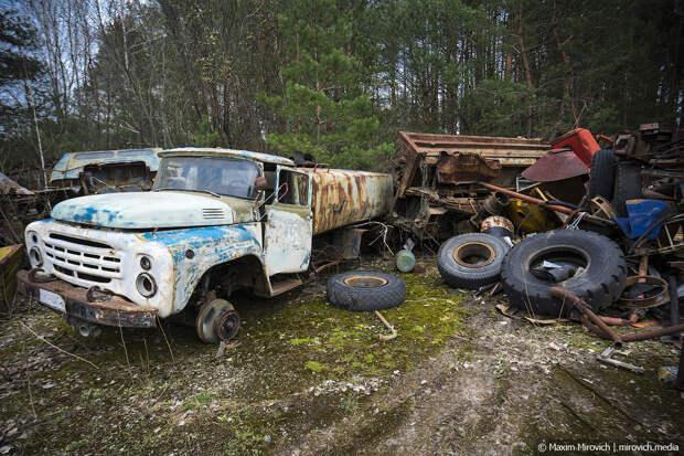 Что стало с техникой ликвидаторов в Чернобыле.