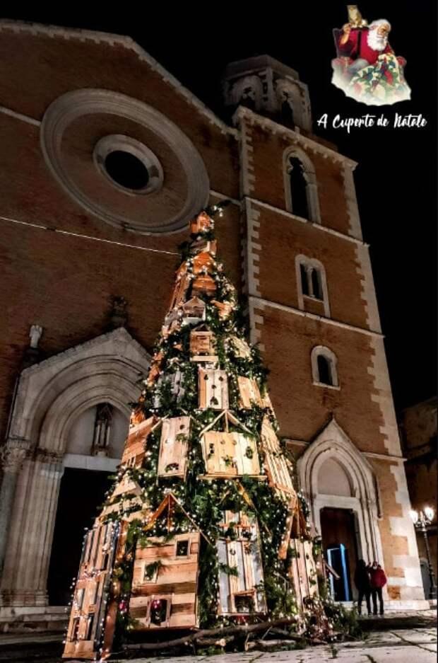 В Италии появилась ёлка с необычным украшением. Такое оформление порадует кошек