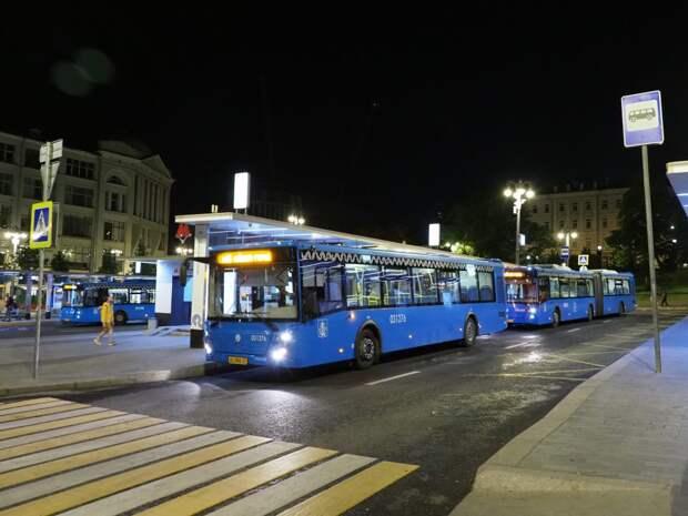 Маршрут ночного автобуса, курсирующего через Южное Тушино, изменится 29 апреля