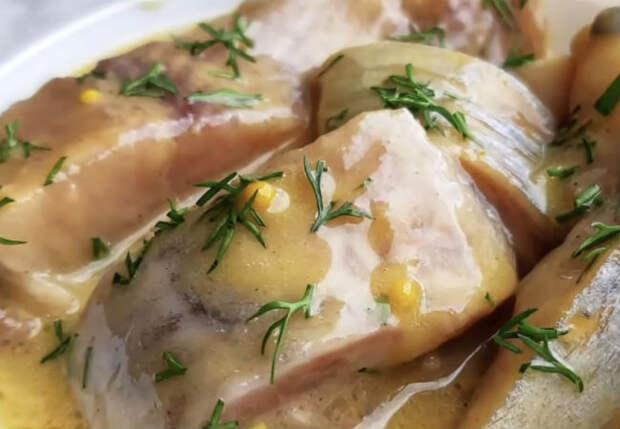 Селедка в горчичном соусе: закуска Северян