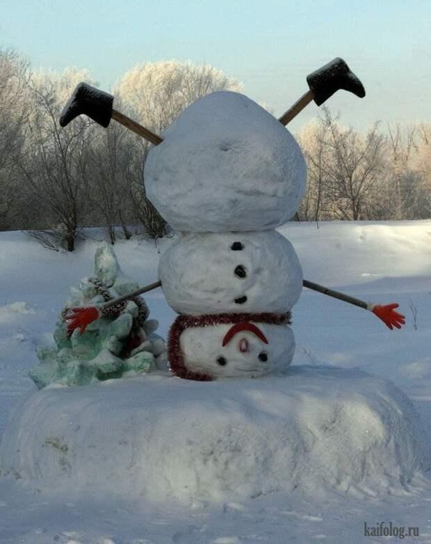 Снеговики для ленивых или креативных