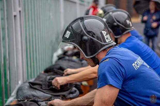 В районе Некрасовка прошли соревнования столичных пожарных