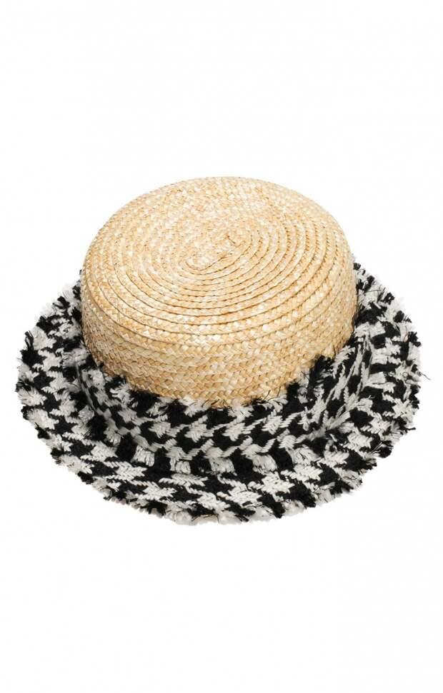 Шляпка соломка утеплённая