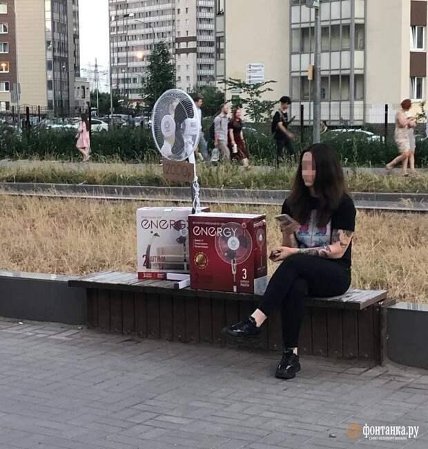 Всё настолько плохо, что вентиляторами в Девяткино начали торговать на улицах
