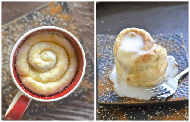 Как приготовить по-настоящему вкусные кексы с корицей за 1 минуту