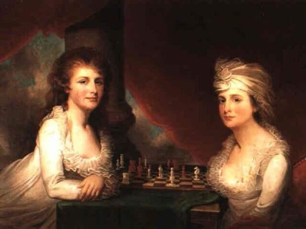 Гилберт Чарльз Стюарт, «Портрет мисс Хетти и Мэри Моррис», 1795.