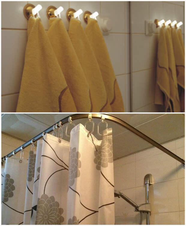 Хранить мокрые полотенца и шторки в ванной.