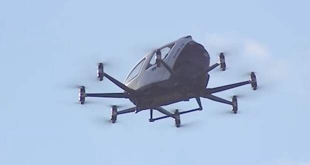 Беспилотное аэротакси Ehang совершило полет вСША