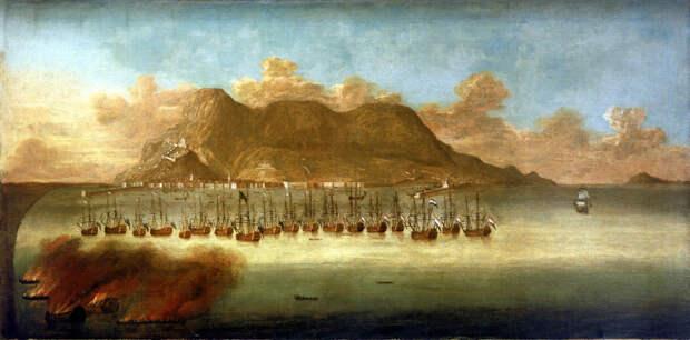 Английский флот обстреливает Гибралтар - Великие крейсерские войны: драка за испанское наследство   Военно-исторический портал Warspot.ru