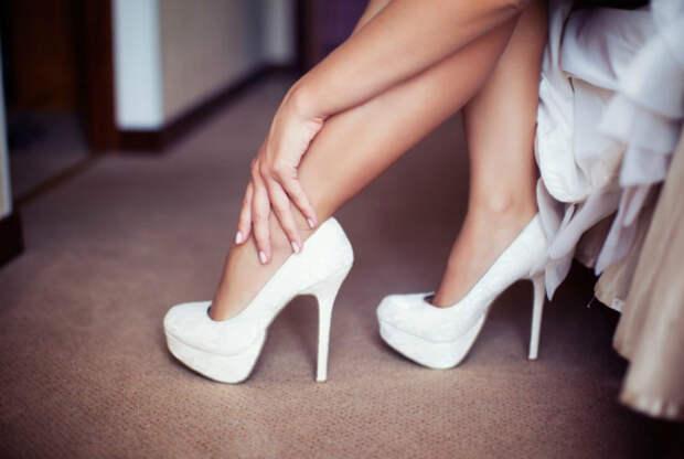 Выбор обуви на высоком каблуке.