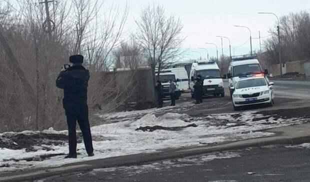 """В Оренбурге полиция оцепила территорию рядом с остановкой """"Кушкули-3"""""""