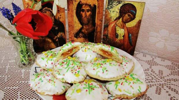 Пасхальное творожное печенье с курагой — пошаговый рецепт с фото и видео