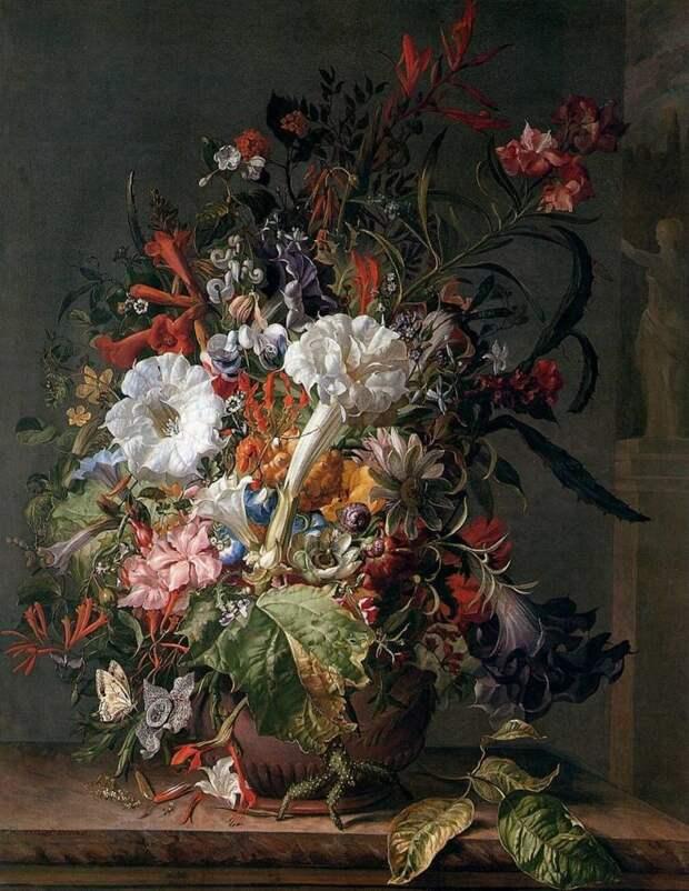 Рашель Рюйш — нидерландская художница эпохи барокко, мастер натюрморта голландские натюрморты, живопись, искусство, красота, цветы