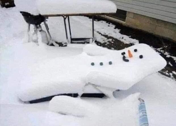 Снеговики необычные идеи что слепить