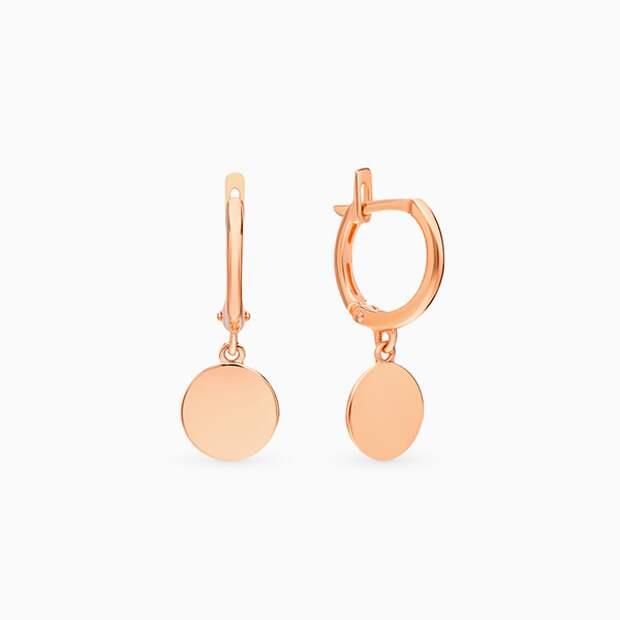 Серьги SL, розовое золото