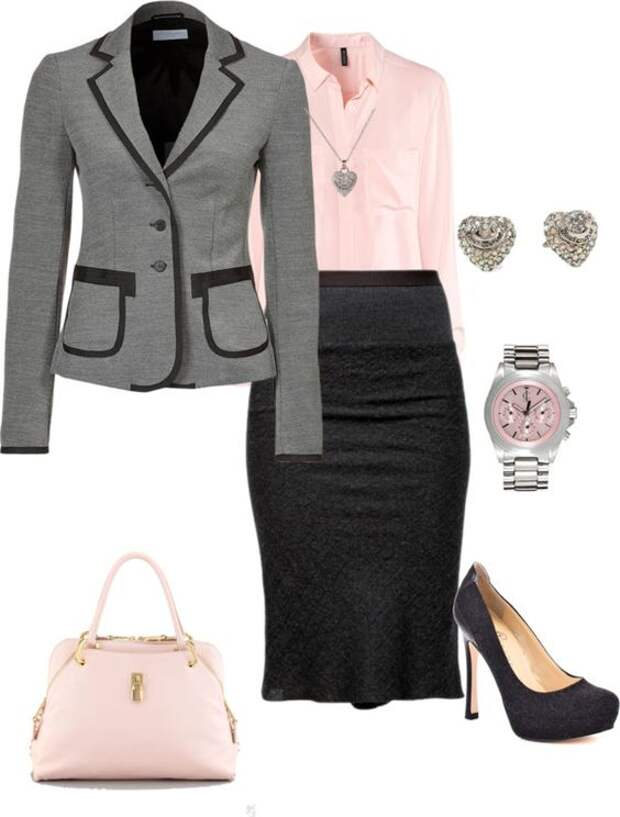 Black & Pink work outfit