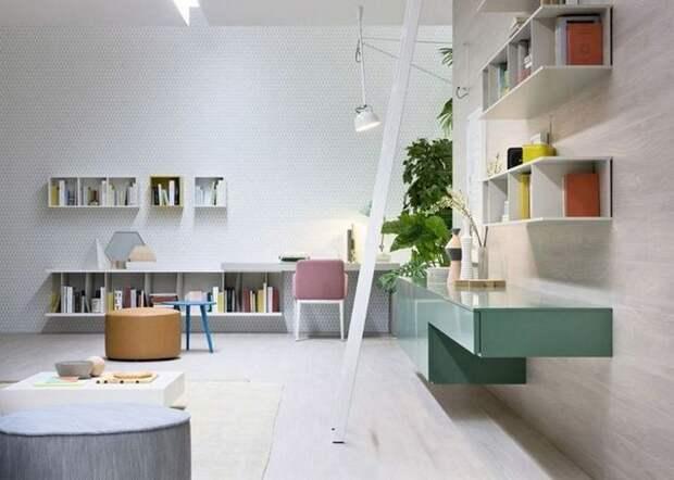 Хорошая идея для дома: «Геометрия в пастельных тонах».