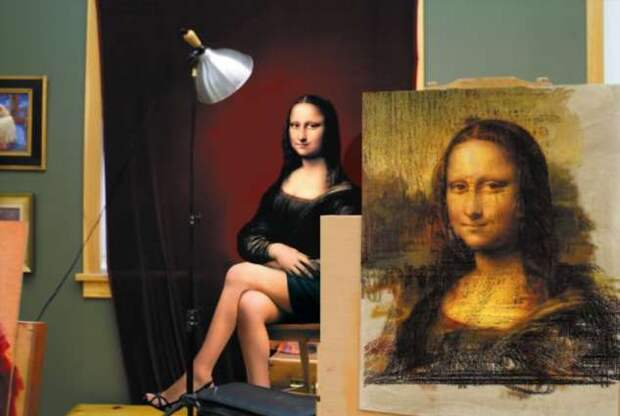Переосмысление — Мона Лиза в новой обстановке