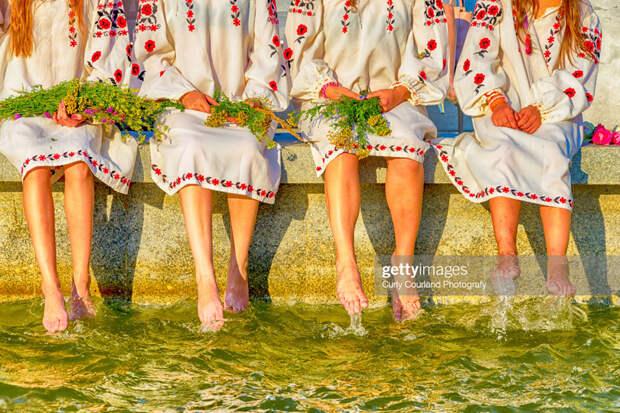Ukrainian traditional embroidered dress