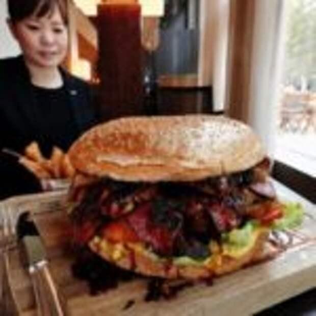 Огромный японский бургер за $900