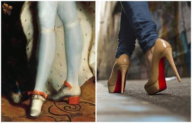 Раньше каблуки украшали мужские ноги, а сегодня - женские/