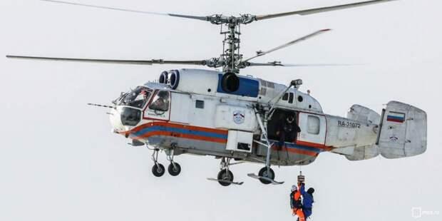 Вертолет. Фото: Управление по САО Департамента по делам гражданской обороны, чрезвычайным ситуациям и пожарной безопасности города Москвы