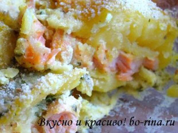 Посидим, поедим...Картофельно-рыбную запеканку