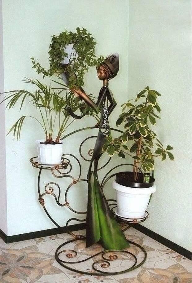 Креативные подставки для цветов.Восхищает фантазия умельцев!