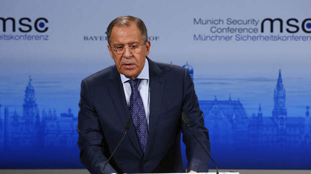 Russian Foreign Minister Sergey Lavrov addresses during the 51st Munich Security Conference at the 'Bayerischer Hof' hotel in Munich February 7, 2015. (Reuters/Michael Dalder)