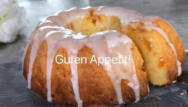 Простой, и сочный торт всего из нескольких ингредиентов – рецепт Гугельхупфа с фруктами
