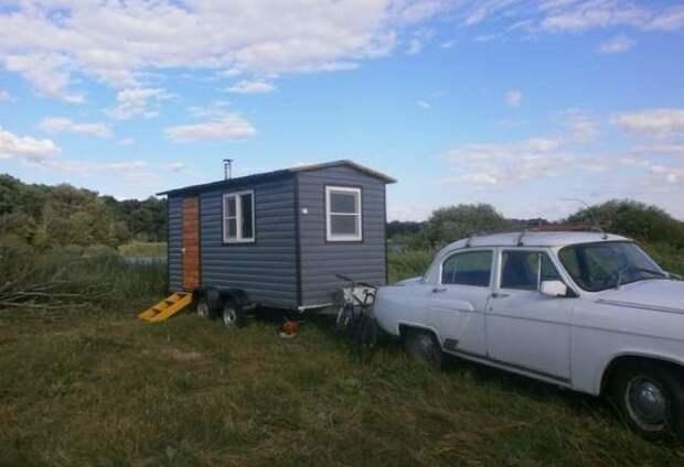 Мужчина из Воронежа построил дом на колесах, чтобы жить около озера авто, истории, путешевствия, факты